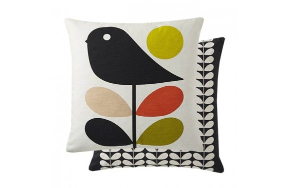 Orla Kiely Early Bird Cushion - Pale Rose