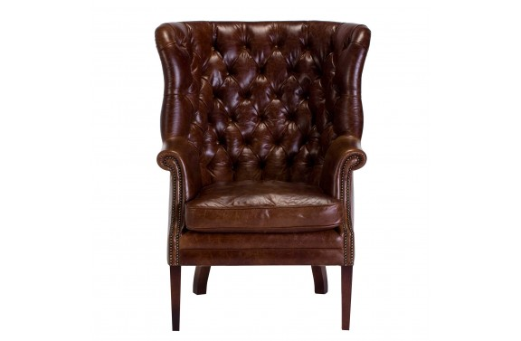 Tetrad Mackenzie Leather Wing Chair