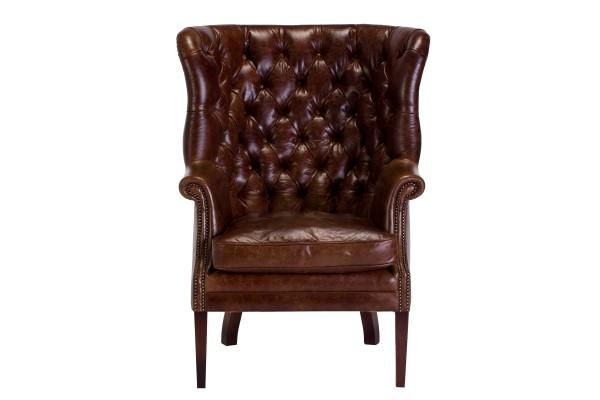 Tetrad Mackenzie Leather Wing Chair