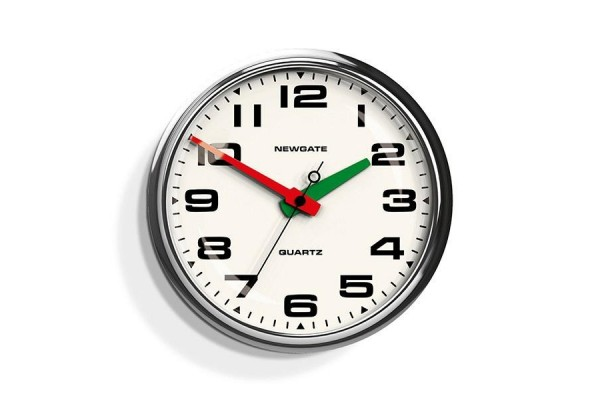 Newgate Brixton Clock - Chrome