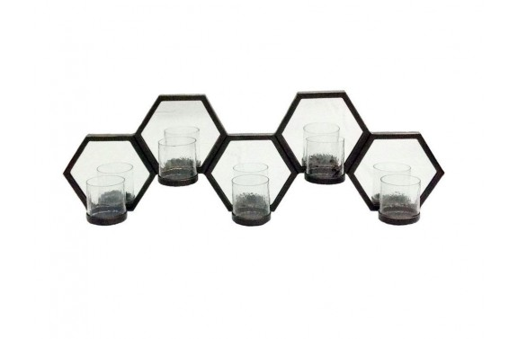 Bronze Honeycomb Mirrored Wall Sconce