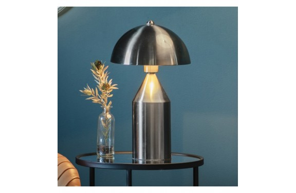 Art Deco Brushed Nickel Table Lamp