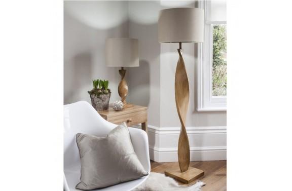 Rustic Spiral Floor Lamp