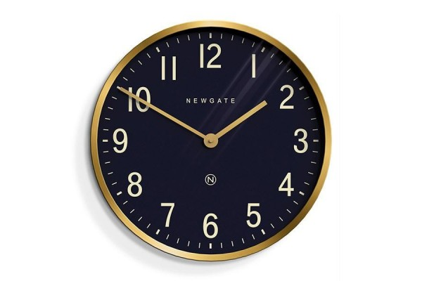 Newgate Mr Edwards Clock - Brass