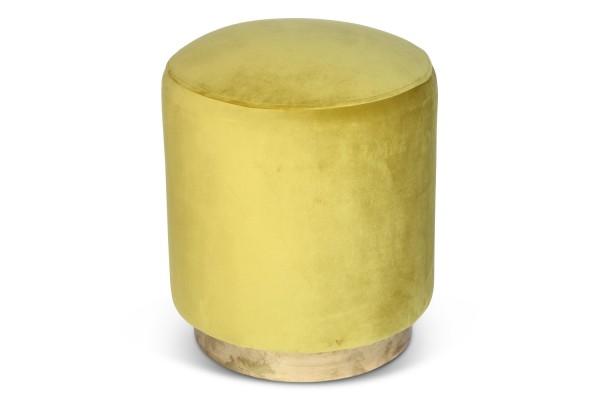 Teal velvet pod with gold base