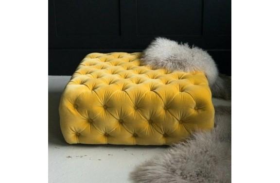 Dulwich Deep Buttoned Cube Stool - Anna Morgan