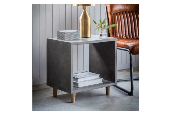 Concrete Effect Cube Coffee Table