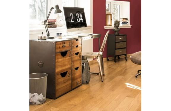 Industrial 7 Drawer Desk