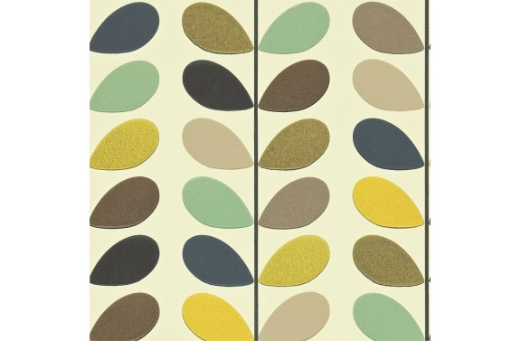 Orla Kiely Multi Stem Wallpaper - Seagreen