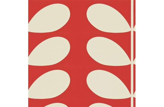 Orla Kiely Giant Stem Wallpaper - Red