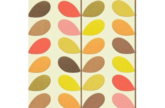 Orla Kiely Multi Stem Wallpaper - Hibiscus