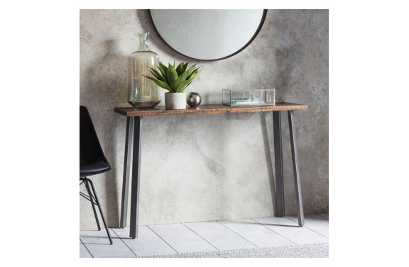 Rustic Wood & Metal Desk/Console