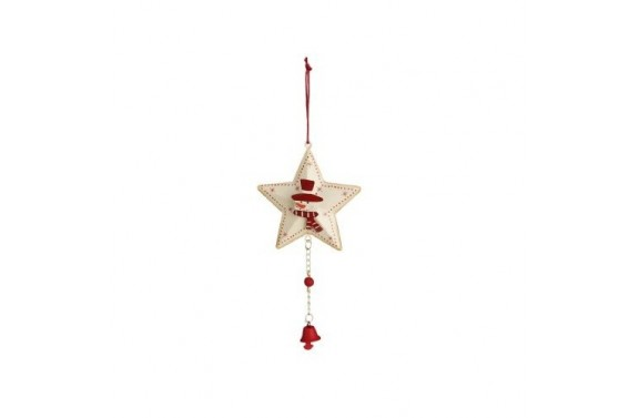 Star And Snowman Christmas Decoration