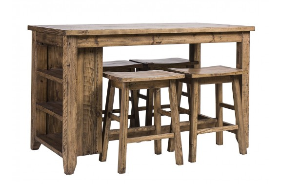 Rustic Table With Shelving