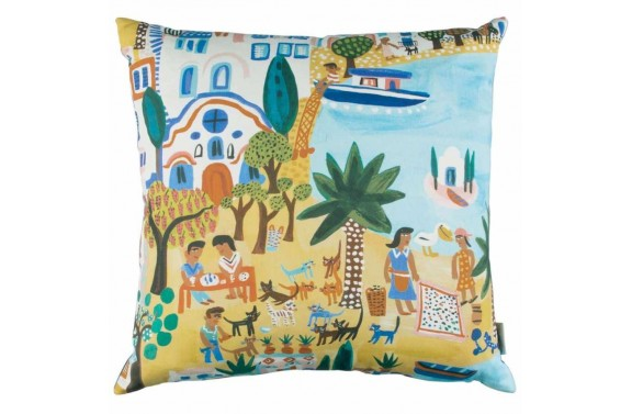 Villa Nova Island Hopping Cushion - Anna Morgan (London)