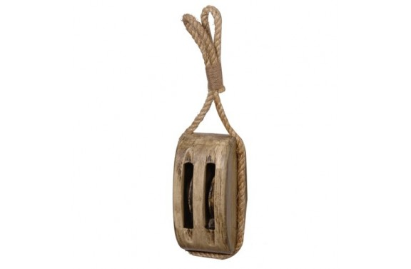 Rustic Wooden Pulley