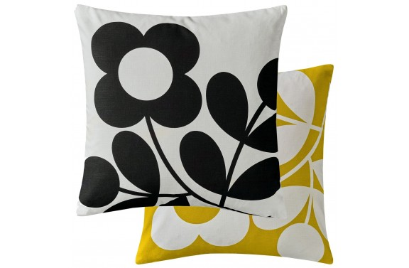 Orla Kiely Stem Sprig Cushion - Buttercup