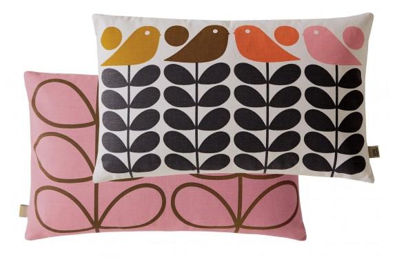 Orla Kiely Early Bird Rectangular Cushion - Summer