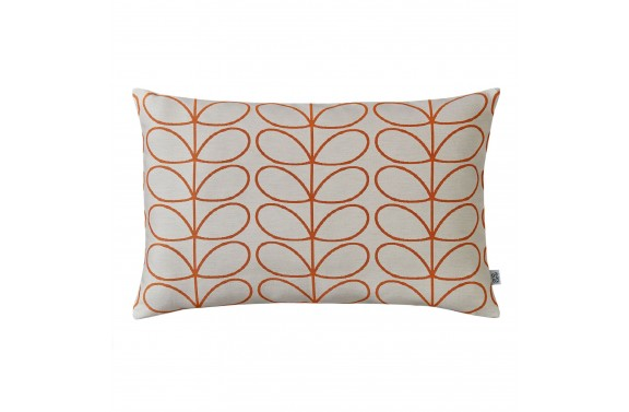 Orla Kiely Woven Linear Stem Cushion - Orange