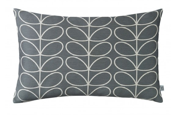 Orla Kiely Woven Linear Stem Cushion - Grey