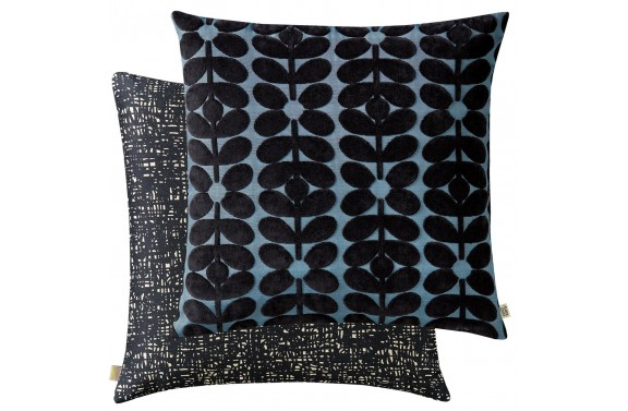 Orla Kiely Sixties Stem Cushion - Dark Marine