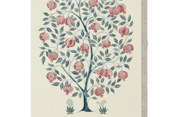 Anaah Tree Wallpaper - Annato/ Blueberry