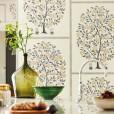 Anaah Tree Wallpaper - Annato/ Blueberry