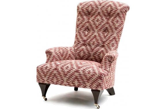 John Sankey Hawthorne chair in Kilim from Anna Morgan (London)