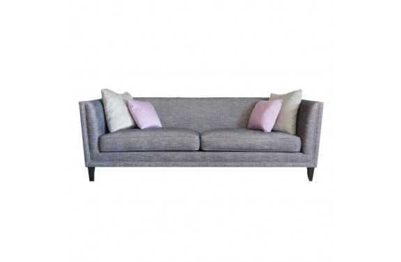 John Sankey Tuxedo Kingsize Sofa in grey fabric from Anna Morgan (London)
