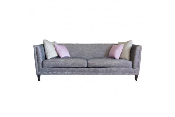 John Sankey Tuxedo Kingsize Sofa in grey fabric from Anna Morgan (London)