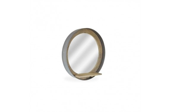 Re-engineered Porthole Mirror - Grey