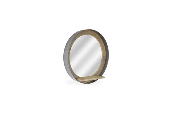 Re-engineered Porthole Mirror - Grey