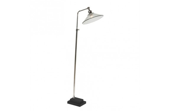 Nickle Floor Lamp with Marble Base