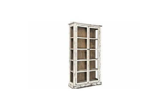 Painted Glass Cabinet