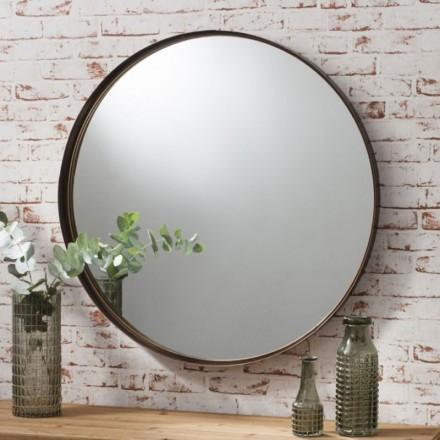 Bronze Round Mirror