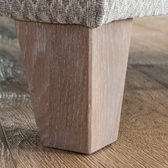 Accent Chair Tapered Smokey Oak Leg