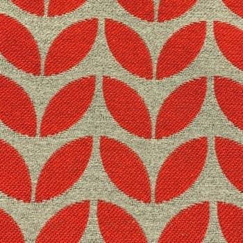 Scarlet/Pewter Poplar Leaf