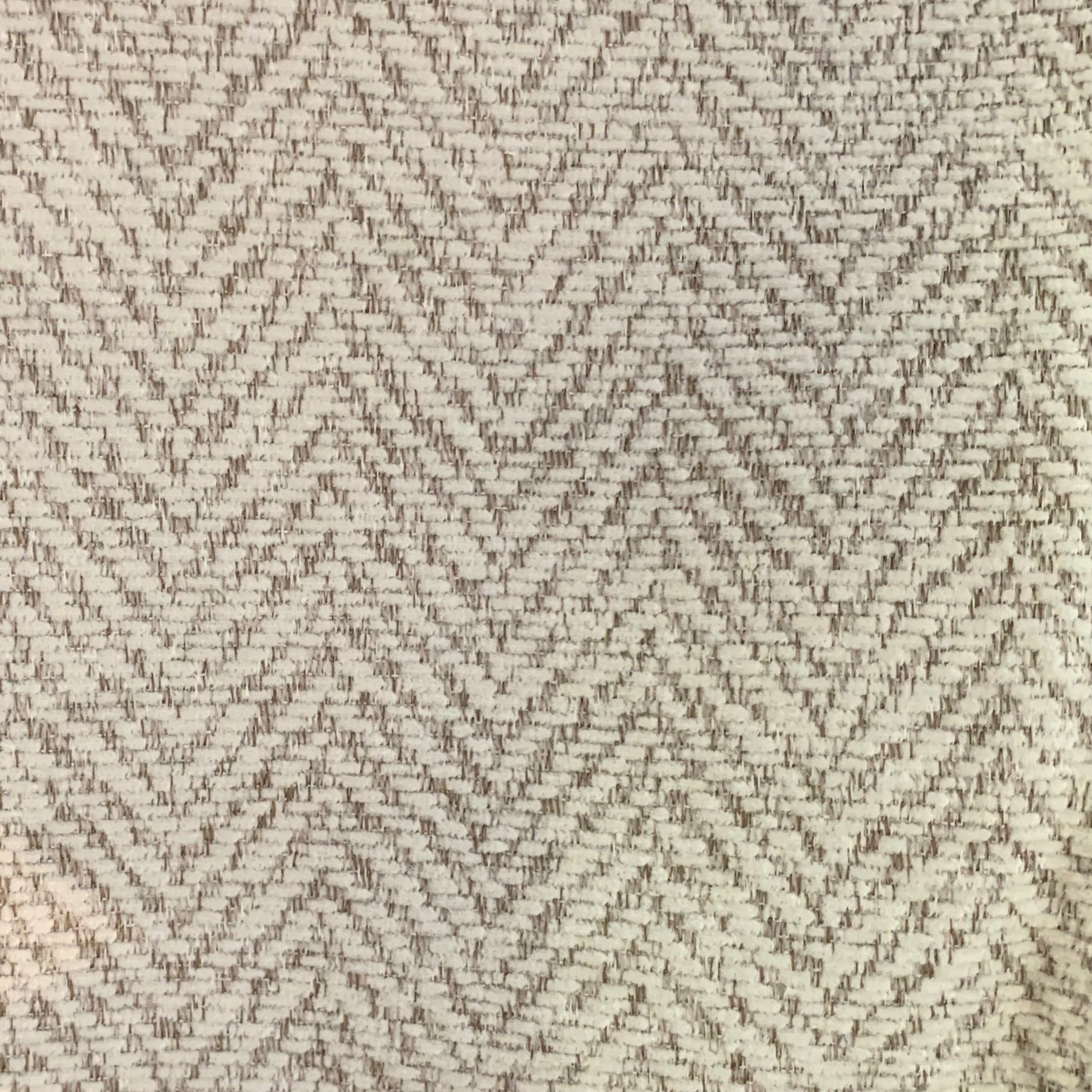 Chalk Herringbone Chenille Plain