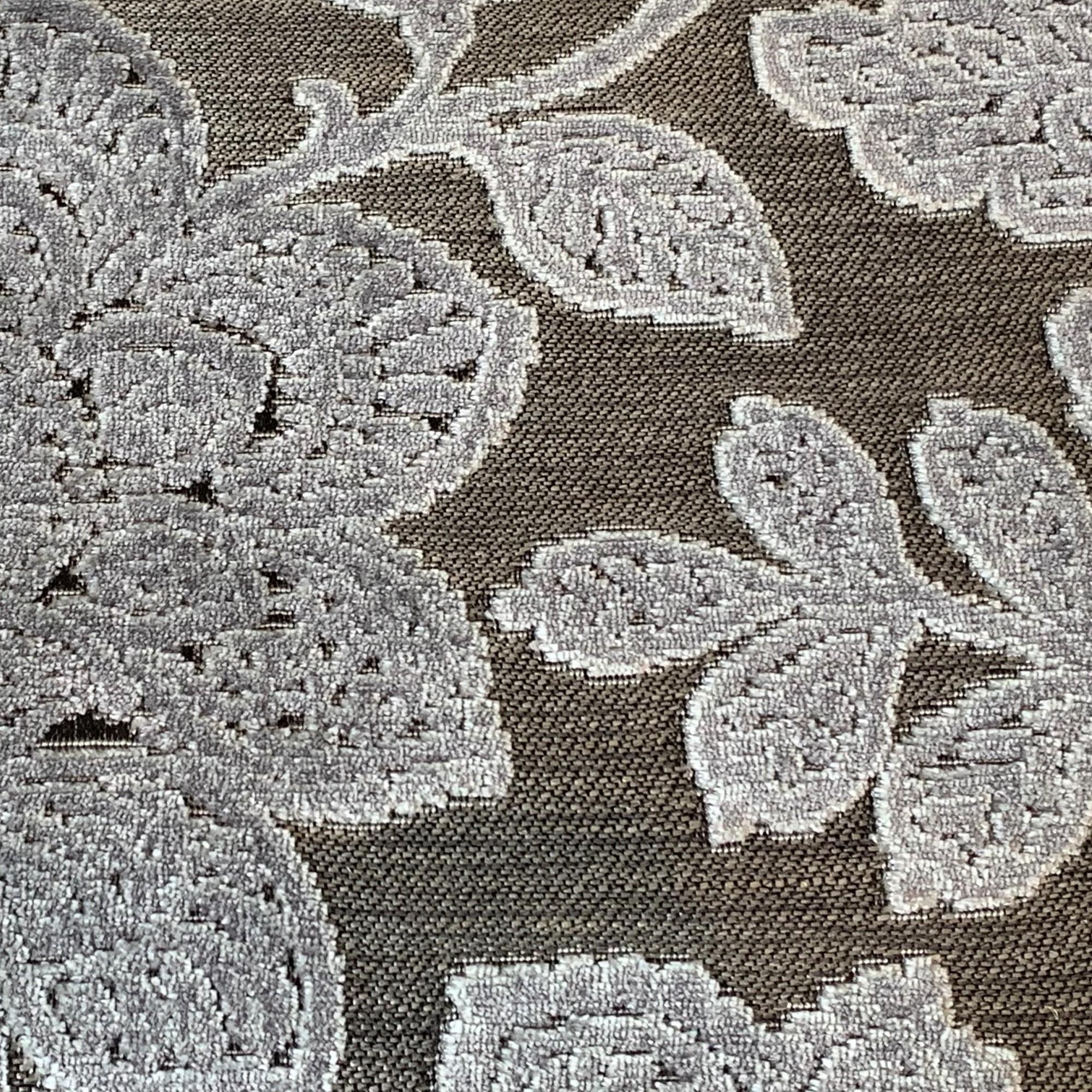 Charcoal Juliet Floral Velvet