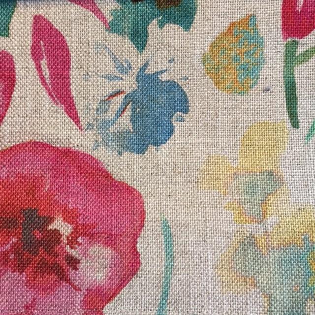Cerise/Teal Spring Floral