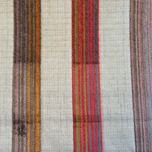 Red/Multi Velvet Stripe