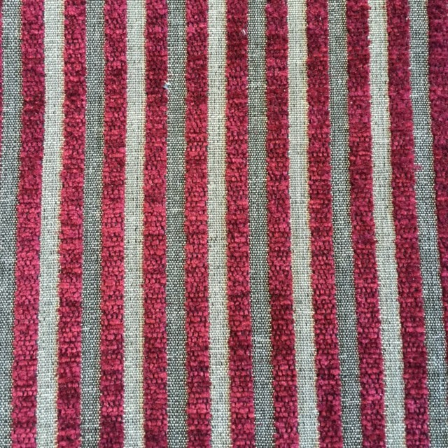 Ruby Pinstripe Chenille