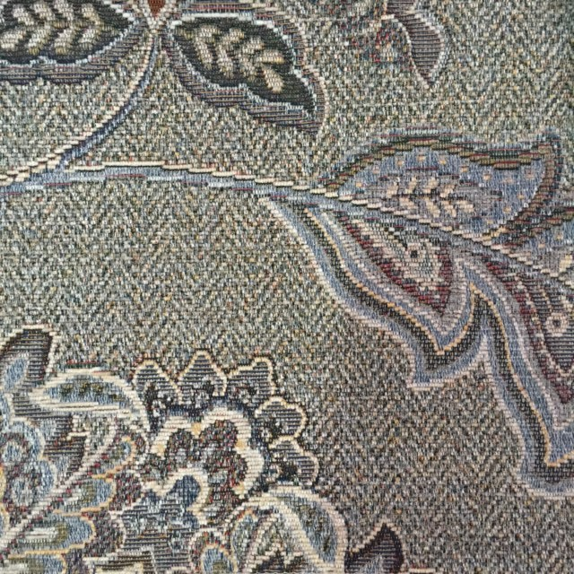 French Grey Floral Chenille