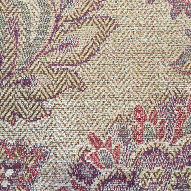 Gold Floral Chenille