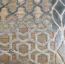 Pewter/Bronze Patchwork Velvet