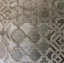 Silver Chrome Patchwork Velvet