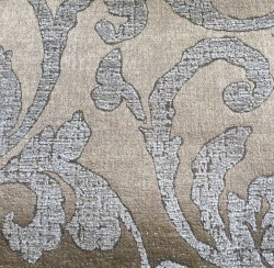 Steel Gold Gianna Floral Chenille